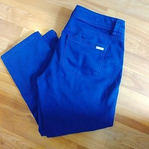"WHBM Royal Blue ""blanc"" jeans"